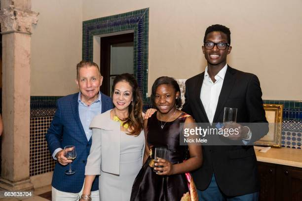 Cecile Skala Donald Skala Charms Avery and Guest attend Sharon Bush Hosts Benefit Dinner for Cristo Rey Brooklyn High School at Private Residence on...