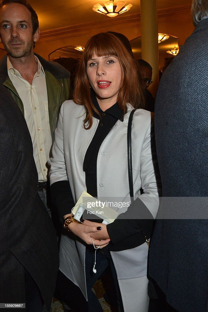 DJ Cecile Togni attend the 'Prix De Flore 2012' - Literary Award Ceremony Party at the Cafe de Flore on November 8, 2012 in Paris, France.