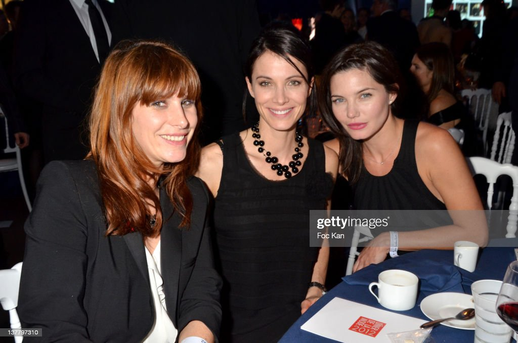 DJ Cecile Togni, Laetitia Fourcade and <a gi-track='captionPersonalityLinkClicked' href=/galleries/search?phrase=Delphine+Chaneac&family=editorial&specificpeople=794094 ng-click='$event.stopPropagation()'>Delphine Chaneac</a> attend the Sidaction Gala Dinner 2012 at the Pavillon d'Armenonville on January 26, 2012 in Paris, France.
