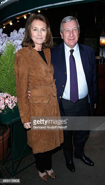 Cecilia Attias and Richard Attias attend 'La Closerie Des Lilas Literary Awards 2014 7th Edition' at La Closerie Des Lilas on April 8 2014 in Paris...
