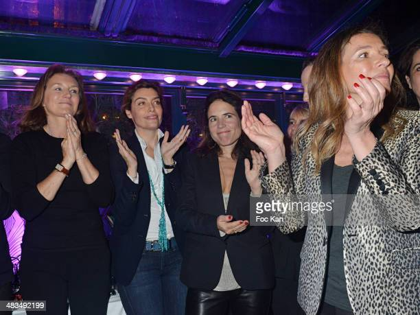 Cecilia Attias Daphne Roulier Mazarine Pingeot and Carole Chretiennotattend La Closerie Des Lilas Literary Awards 2014 7th at La Closerie Des Lilas...