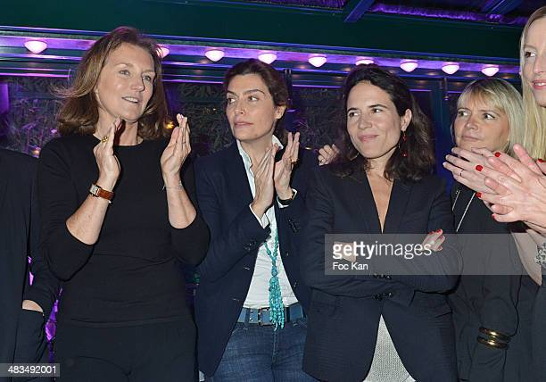 Cecilia Attias Daphne Roulier Mazarine Pingeot and guets attend La Closerie Des Lilas Literary Awards 2014 7th at La Closerie Des Lilas on April 8...