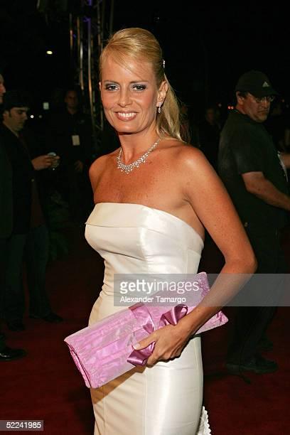 Cecilia Bolocco arrives at the 17th Annual Premio Lo Nuestro A La Musica Latina Awards at the American Airlines Arena February 24 2005 in Miami...