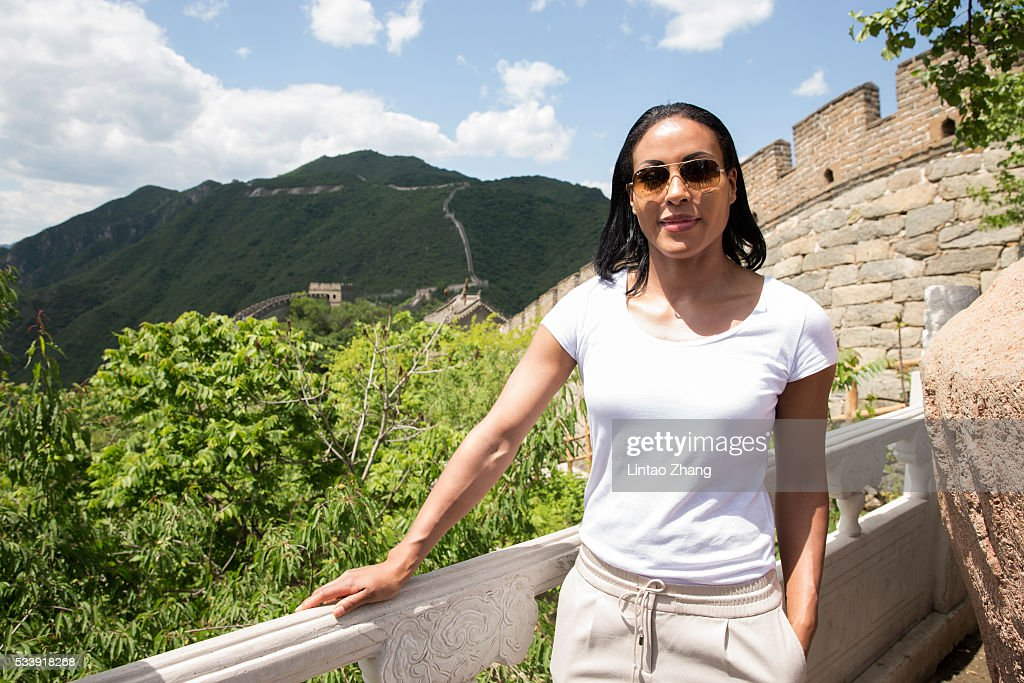 <a gi-track='captionPersonalityLinkClicked' href=/galleries/search?phrase=Cecilia+Braekhus&family=editorial&specificpeople=2218222 ng-click='$event.stopPropagation()'>Cecilia Braekhus</a> of Norway poses on the Great Wall during the Weigh-in of IBF World Boxing Championship Bout at Mutianyu on May 24, 2016 in Beijing, China.