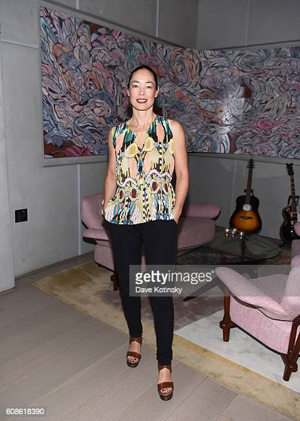 Cecilia Dean attends the Daniel Arsham 'Colorblind Artist In Full Color' at Spring Place on September 19 2016 in New York City