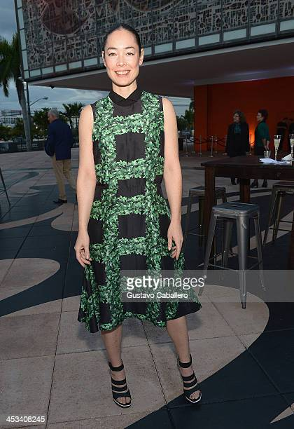 Cecilia Dean attends the World Premiere Of 'A Portrait Of Marina Abramovic' Sponsored By CAR2GO on December 3 2013 in Miami Florida