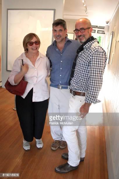 Cecilia DeTorres Gustavo Bonevardi and Tim O'Brien attend Gustavo Bonevardi Opening at Gallery B on May 30 2010 in Sag Harbor New York