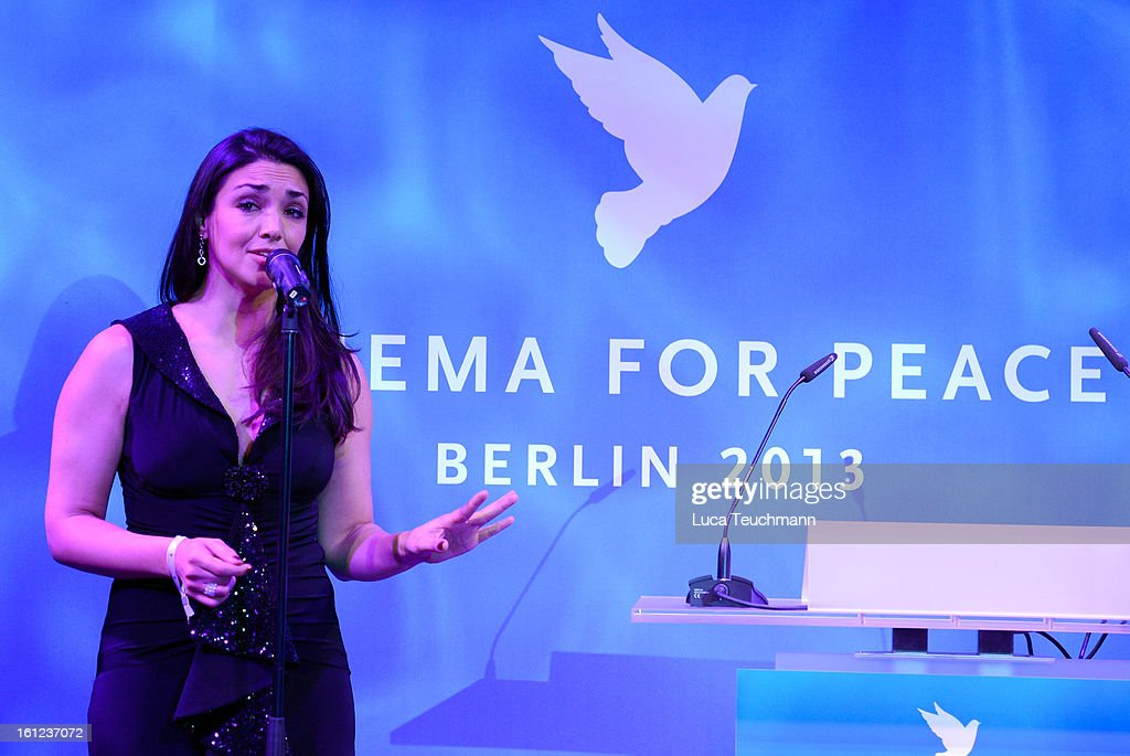 Cecilia Fuentes during the Cinema For Peace Gala Ceremony at the 63rd Berlinale International Film Festival at the Waldorf Astoria Hotel on February 9, 2013 in Berlin, Germany.
