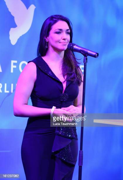 Cecilia Fuentes during the Cinema For Peace Gala Ceremony at the 63rd Berlinale International Film Festival at the Waldorf Astoria Hotel on February...