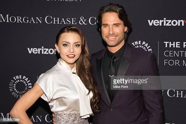 Cecilia Galliano and Sebastian Rulli attend the 2016 Paley Center for Media's Tribute To Hispanic Achievements In Television at Cipriani Wall Street...