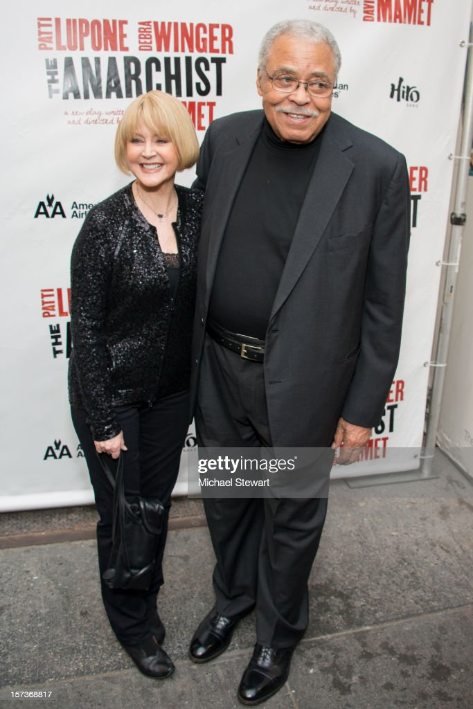Cecilia Hart (L) and actor <a gi-track='captionPersonalityLinkClicked' href=/galleries/search?phrase=James+Earl+Jones&family=editorial&specificpeople=206328 ng-click='$event.stopPropagation()'>James Earl Jones</a> attend 'The Anarchist' Broadway Opening Night at John Golden Theatre on December 2, 2012 in New York City.