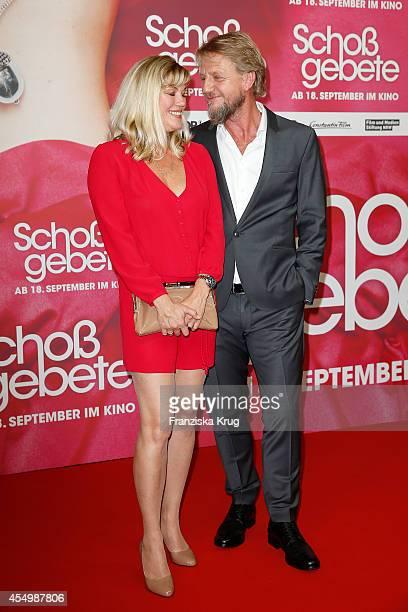 Cecilia Kunz and Soenke Wortmann attend the 'Schossgebete' Berlin Premiere at Kino International on September 08 2014 in Berlin Germany