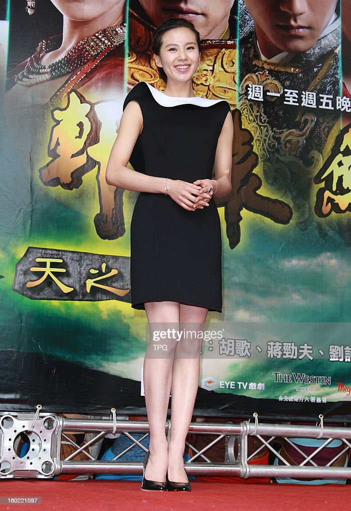 Cecilia Liu attended TV drama activity on Sunday January 27, 2013 in Taipei, Taiwan, China.