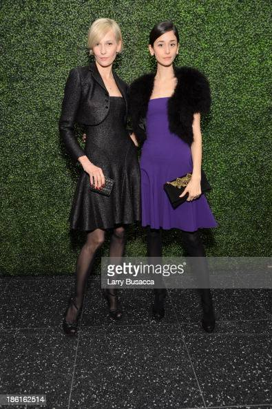 Cecilia Mendez and Katia Kokoreva arrive as Ralph Lauren Presents Exclusive Screening Of Hitchcock's To Catch A Thief Celebrating The Princess Grace...