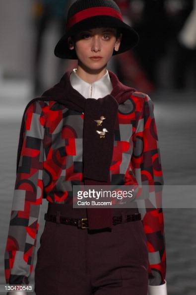 Cecilia Mendez wearing Marc Jacobs Fall 2007 during MercedesBenz Fashion Week Fall 2007 Marc Jacobs Runway at NY State Armory in New York City New...