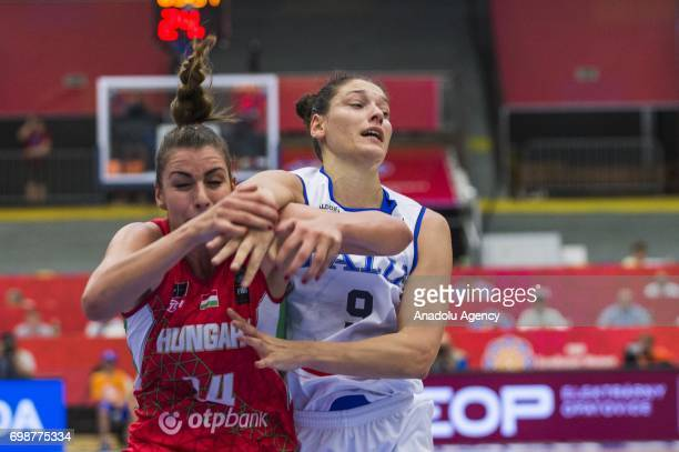 Cecilia Zandalasini of Italy in action against Tijana Krivacevic of Hungary during the 2017 FIBA EuroBasket Women qualifications for quarter finals...