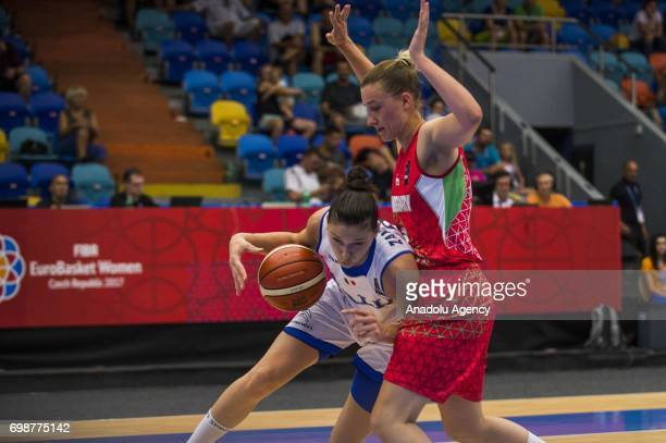 Cecilia Zandalasini of Italy in action during the 2017 FIBA EuroBasket Women qualifications for quarter finals between Hungary and Italy at Hradec...