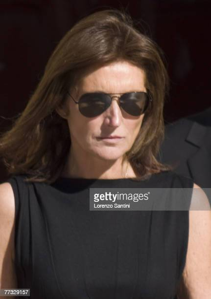 Cecillia Sarkozy attends the funeral of tv personality Jacques Martin on September 20 2007 in Lyon France