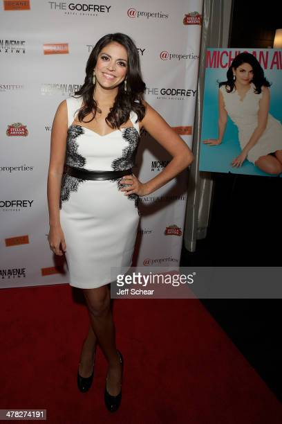 Cecily Strong attends the Michigan Avenue Magazine Spring Issue release celebration hosted by Cecily Strong at The Godfrey Hotel on March 12 2014 in...