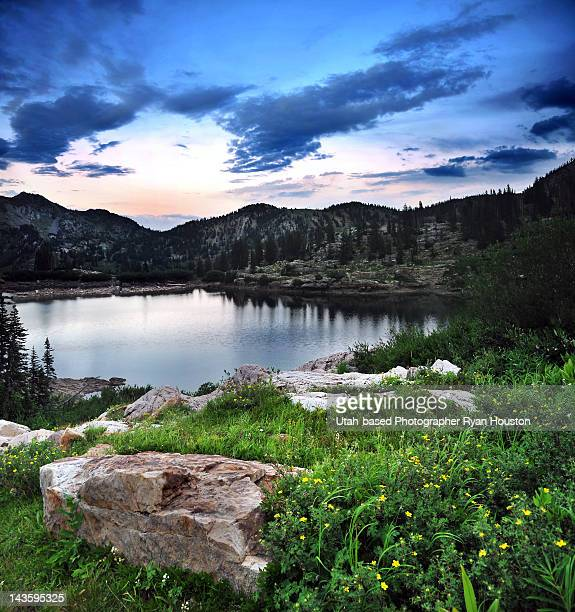 Cecret Lake at sunset