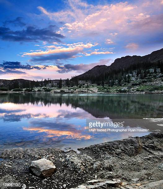 Cecret lake in little cottonwood canyon, Utah