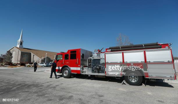 Cedar City fireman arrive at the chapel of the Church of Jesus Christ of LatterDay Saints for the funeral of Heather Lorraine Alvarado on October 13...