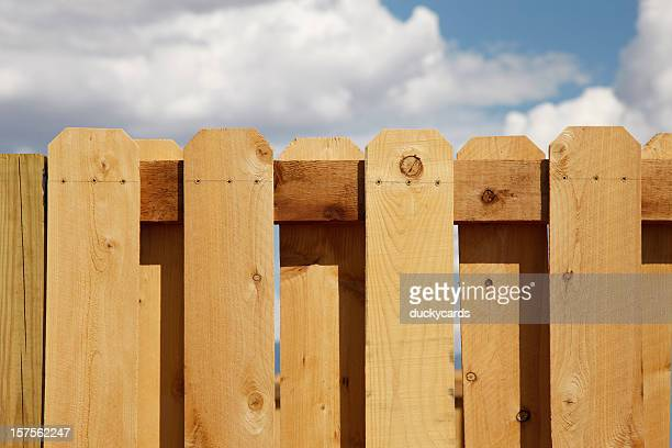 Cedar Picket Fence and Sky