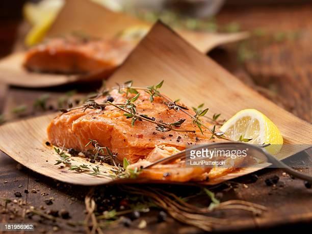 Cedar eingewickelt Lachs