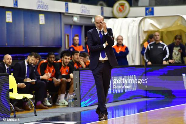Cedevita Zagreb head coach Jurij Zdovc during the EuropCup match between Levallois Metropolitans and Cedevita Zagreb at Salle Marcel Cerdan on...