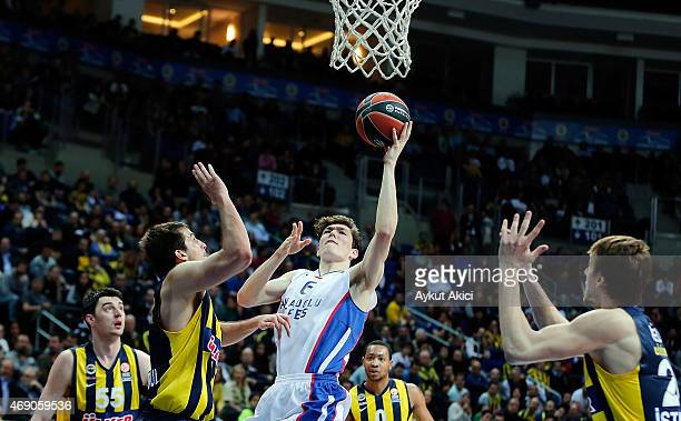 Cedi Osman #6 of Anadolu Efes Istanbul in action during the Turkish Airlines Euroleague Basketball Top 16 Date 14 game between Fenerbahce Ulker...