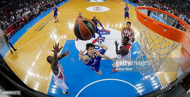 Cedi Osman #6 of Anadolu Efes Istanbul in action during the Turkish Airlines Euroleague Regular Season date 5 game between Anadolu Efes Istanbul v...