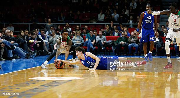 Cedi Osman #6 of Anadolu Efes Istanbul in action during the Turkish Airlines Euroleague Basketball Regular Season Round 9 game between Anadolu Efes...
