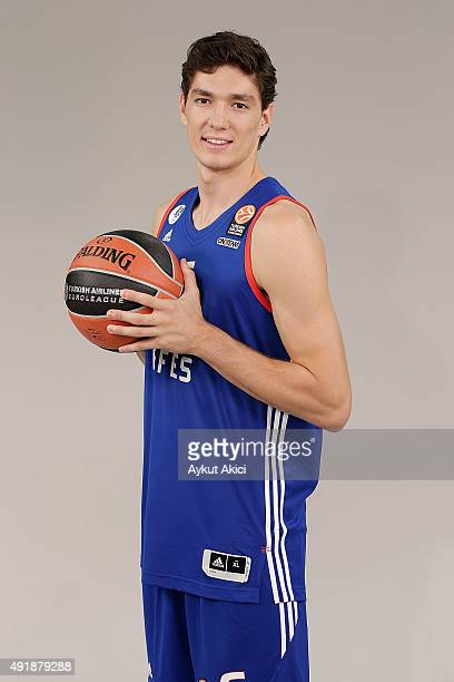 Cedi Osman #6 of Anadolu Efes Istanbul poses during the 2015/2016 Turkish Airlines Euroleague Basketball Media Day at Abdi Ipekci Arena on September...