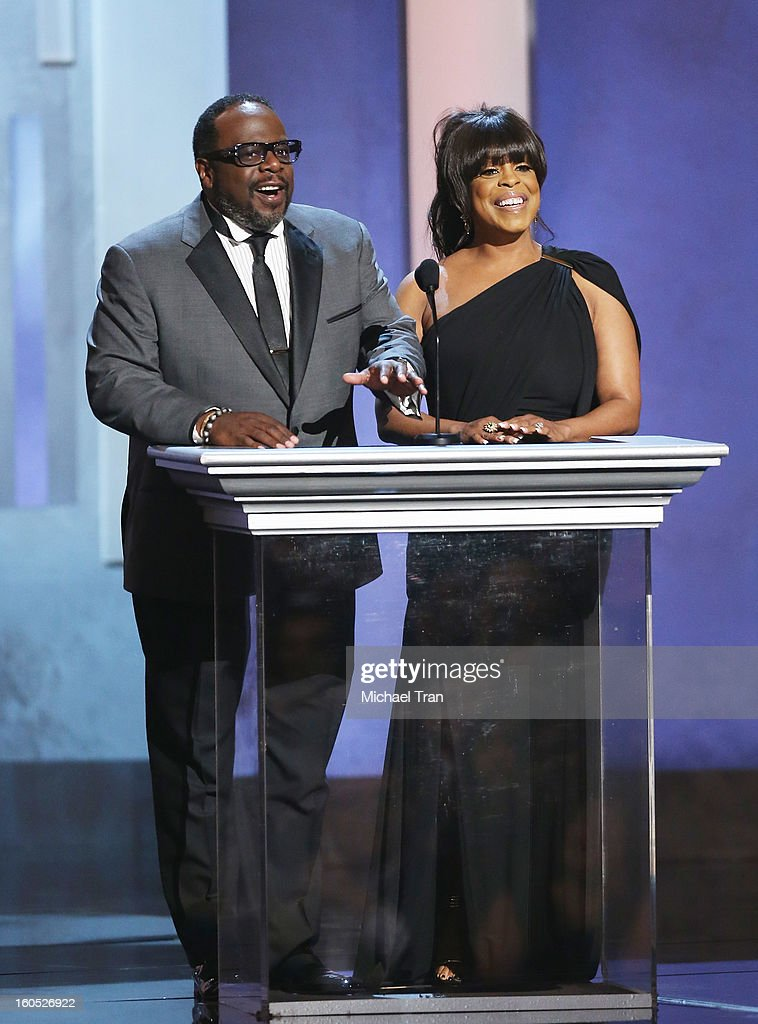 Cedric Antonio Kyles (L) and Niecy Nash speak onstage at the 44th NAACP Image Awards - show held at The Shrine Auditorium on February 1, 2013 in Los Angeles, California.