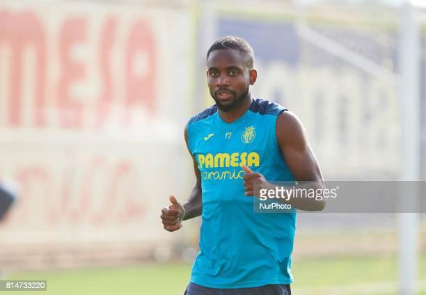 Cedric Bakambu during the first week of Villarreal CF training session at Ciudad Deportiva of Miralcamp July 14 in Vilareal Spain