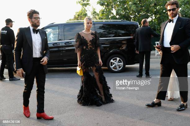 Cedric Benaroch Sofia Richie and Darren Dzienciol arrive at the amfAR Gala Cannes 2017 at Hotel du CapEdenRoc on May 25 2017 in Cap d'Antibes France