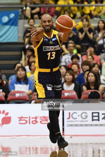Cedric Bozeman of the Tochigi Brex passes the ball during the BLeague Kanto Early Cup 3rd place match between Kawasaki Brave Thunders and Tochigi...