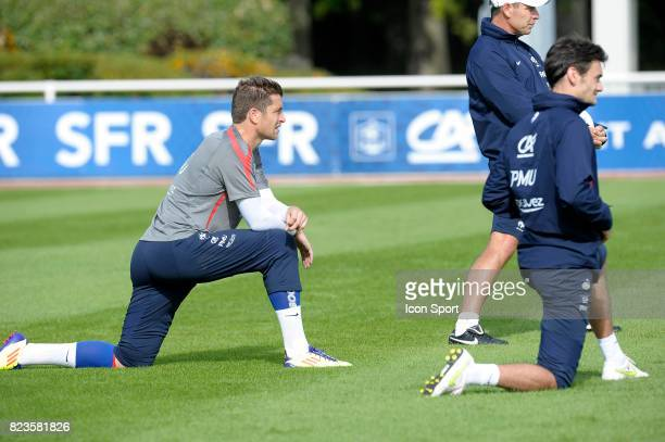 Cedric CARRASSO Entrainement Equipe de France Football Clairefontaine