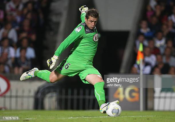 Cedric Carrasso goalkeeper of Bordeaux in action during the french Ligue 1 match between FC Girondins de Bordeaux and AS Monaco FC at the Stade...