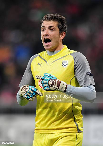 Cedric Carrasso of Bordeaux during the UEFA Champions League Group A match between FC Bayern Muenchen and Bordeaux at Allianz Arena on November 3...