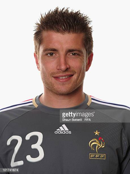 Cedric Carrasso of France poses during the official FIFA World Cup 2010 portrait session on June 7 2010 in George South Africa