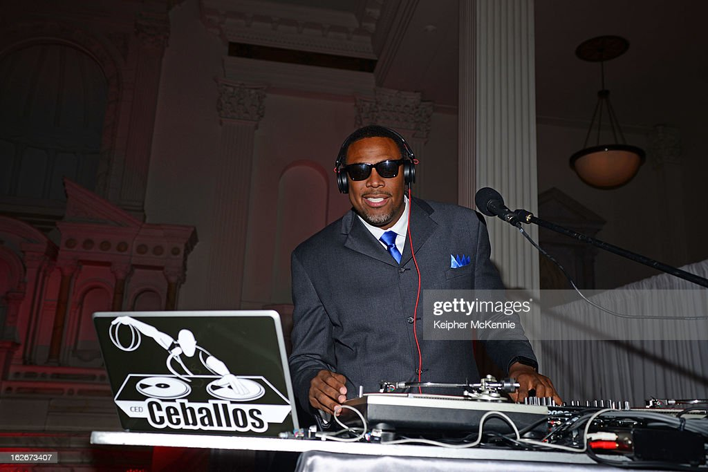 <a gi-track='captionPersonalityLinkClicked' href=/galleries/search?phrase=Cedric+Ceballos&family=editorial&specificpeople=235791 ng-click='$event.stopPropagation()'>Cedric Ceballos</a> DJ's at the Executive Preparatory Academy Of Finance's 'Reason To Believe' Inaugural Charity Fundraising Gala at Vibiana on February 20, 2013 in Los Angeles, California.