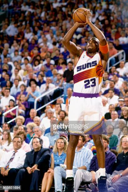 Cedric Ceballos of the Phoenix Suns shoots against the Houston Rockets during Game Three of the Western Conference Semifinals played on May 13 1994...