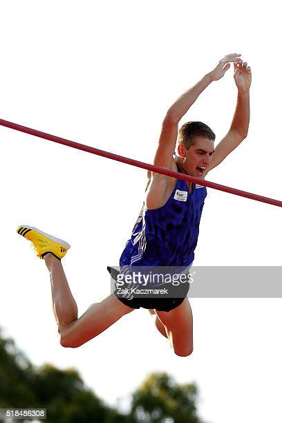 Cedric Dubler of Queensland competes in the pole vault during the Australian Athletics Championships at Sydney Olympic Park on April 1 2016 in Sydney...