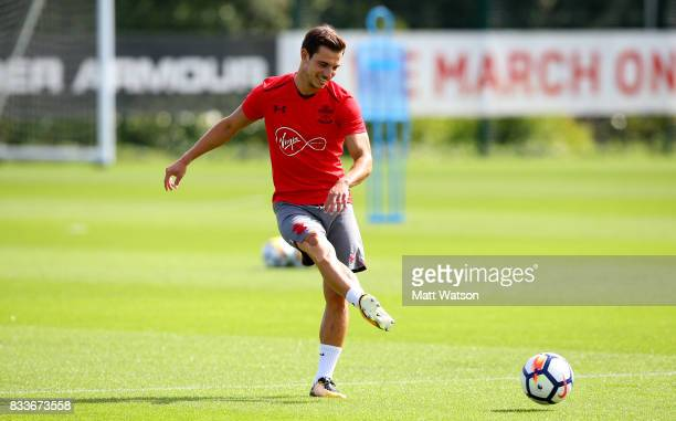Cedric during a Southampton FC training session at the Staplewood Campus on August 17 2017 in Southampton England