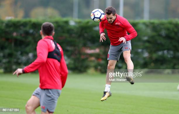 Cedric during a Southampton FC training session at the Staplewood Campus on October 13 2017 in Southampton England