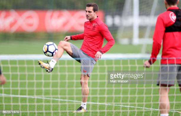 Cedric during a Southampton FC training session at the Staplewood Campus on October 17 2017 in Southampton England