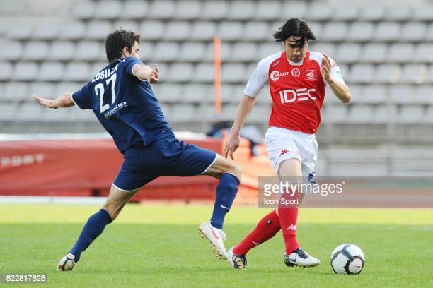 Cedric FAURE Paris FC / Reims 32me journee de National Stade Charlety Paris