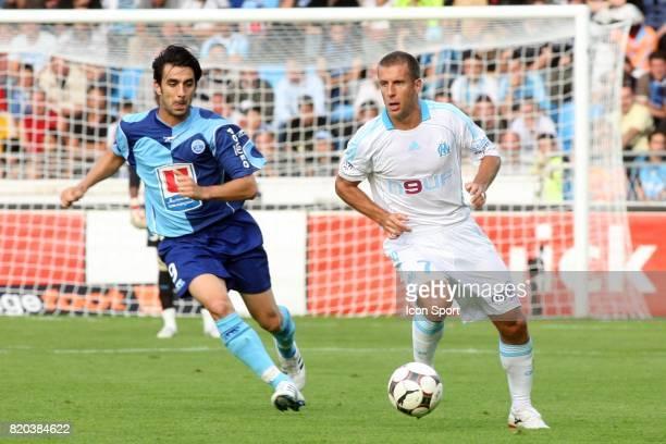 Cedric FAURE / Benoit CHEYROU Le Havre / Marseille 3eme journee de Ligue 1