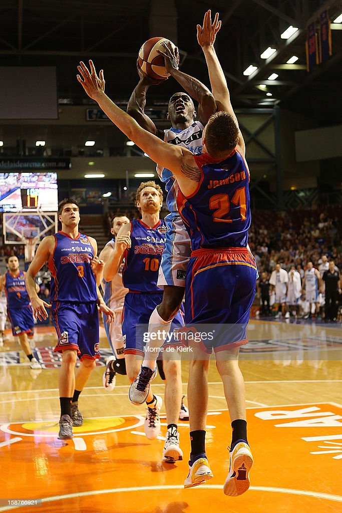 Cedric Jackson of the Breakers goes for the basket during the round 12 NBL match between the Adelaide 36ers and the New Zealand Breakers at Adelaide Arena on December 28, 2012 in Adelaide, Australia.